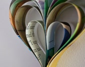 Hanging paper Garland - Love Hearts from Upcycled/ Recycled Picture Books