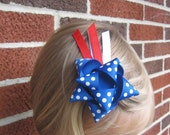 4th of July Shooting Star hair bow