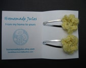 Yellow flower clips
