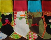 Reserved listing for BonnieW: Holiday stockings - snowman, reindeer, bear