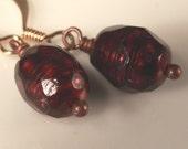 minimalist faceted fresh water pearls beaded dangle earrings nickel free