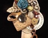 silver spoon pendant watch parts steampunk