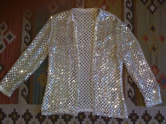 opalescent sequin sweater size M/L