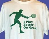 Med. Funny Tennis Tee Shirt