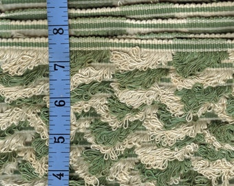 Vintage Trim Ivory and  Sage Green 1 inch x 10 yards NOS