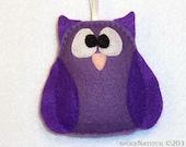 Felt Christmas Ornament - Vivienne the Baby Owl