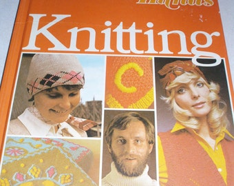 Vintage Hard Cover Book Golden Hands Knitting A Pattern Book 1972