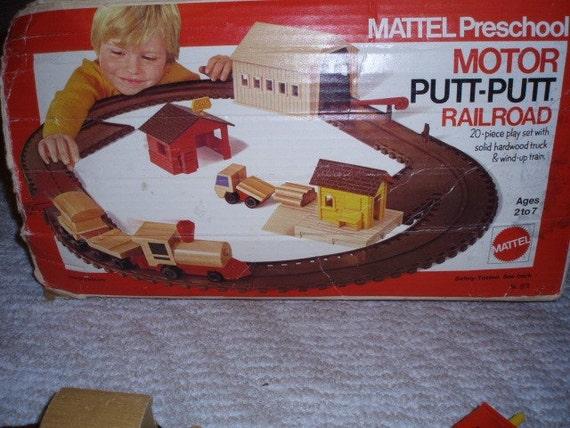 vintage 1972 mattel motor putt putt railroad