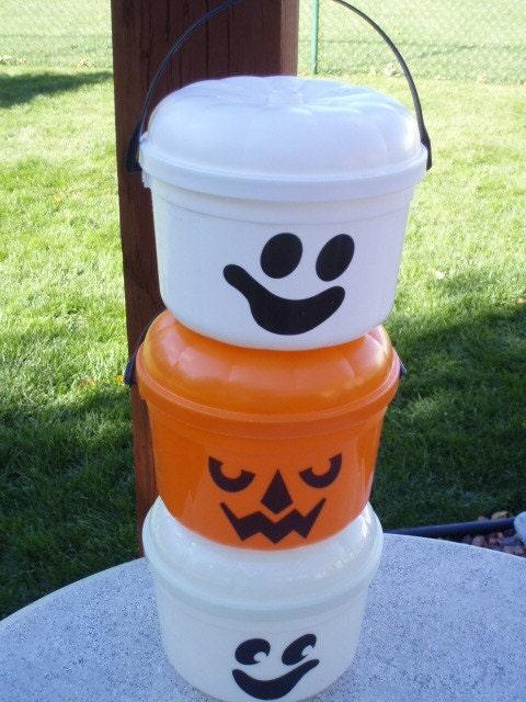 Vintage 1986 Mc Donalds Halloween Happy Meal Bucket Pail Set