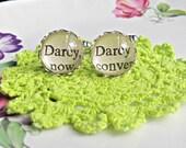 Mr Darcy Cuff Links Cufflinks. Vintage Pride and Prejudice Jane Austen Geekery Wedding Groom Words Text Quote