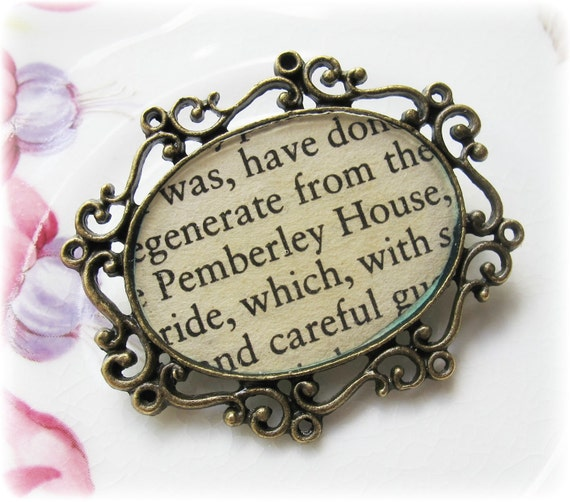 Pemberly House Brooch, Jane Austen