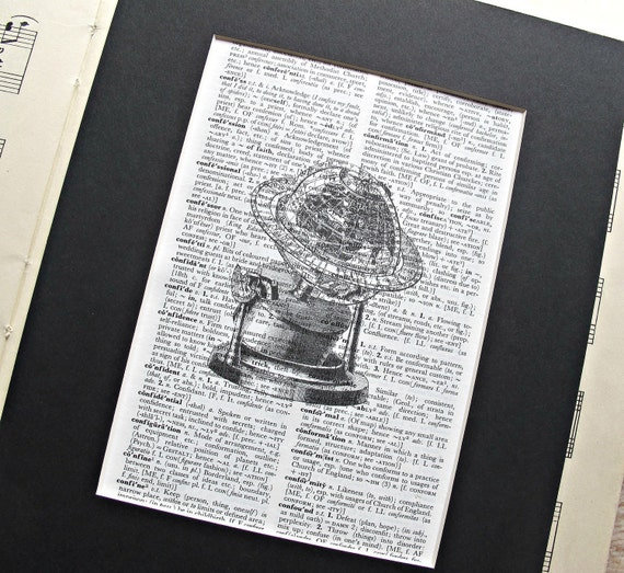 Globe Dictionary Art Print