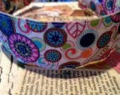 "Boutique Preppy MODERN JEWELED TONE Swirls and Floral Headband 1.5"" wide"