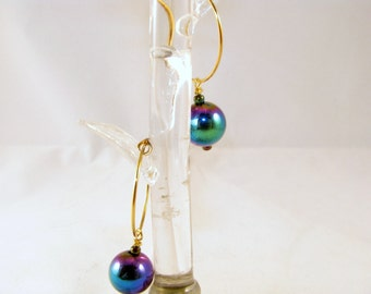 Rainbow Hemalyke Ball Earrings
