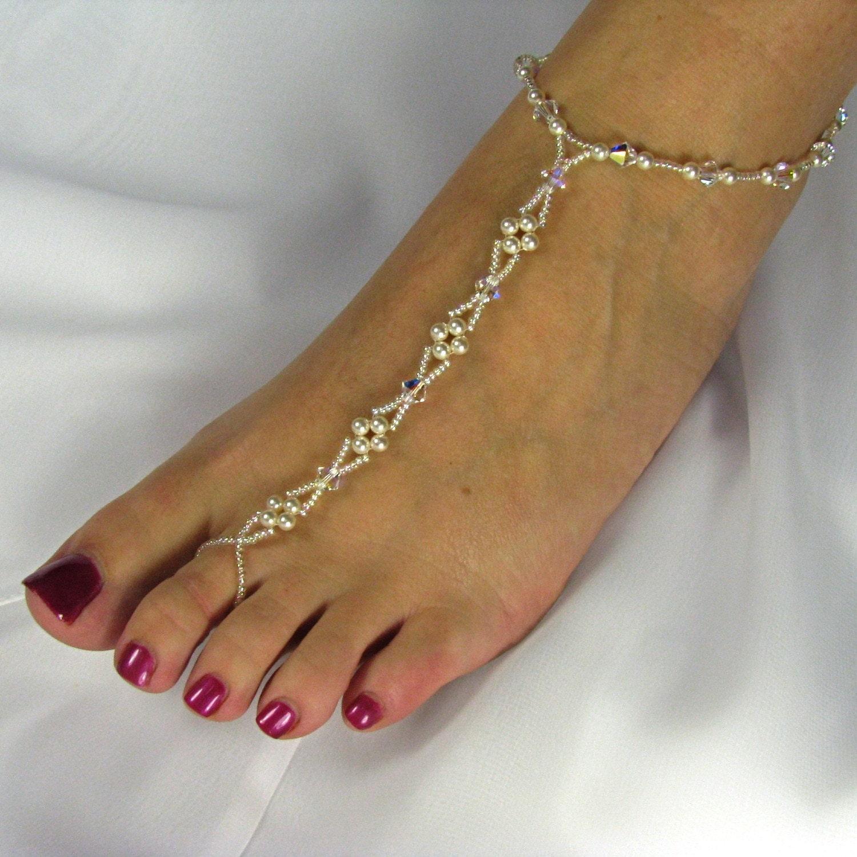 Barefoot Sandals Wedding: Barefoot Sandals Beach Wedding Sandals Bridal By