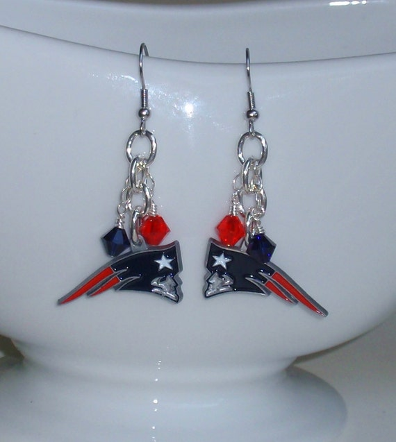 patriots earrings new patriots inspired bowl earrings 2272