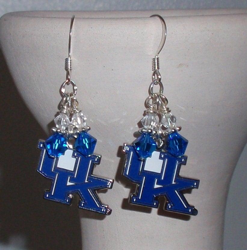 University Of Kentucky Inspired Crystal Logo Earrings