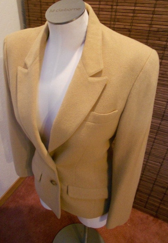 Vintage Wool and Camel Hair Equestrian syle Blazer M