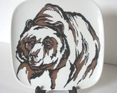 Decorative Plate - Grizzly Bear, Original painting by Yury Tarler - tbteam