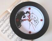 Valentine's Day Clock TANGO - Print from Original Artwork by Yury Tarler - tbteam