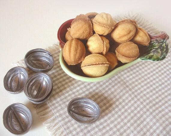 Vintage Walnuts Cookies Molds