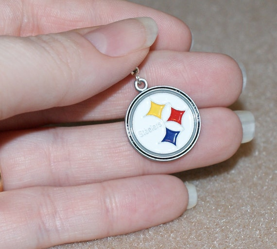 Round Pittsburgh Steelers Earrings