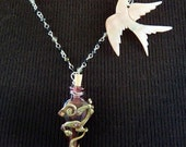 The Spirit of the Sparrow OOAK Vessel Necklace