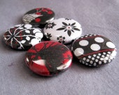 Daily News Set of 5 Fabric Magnets