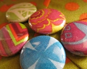 Folksy Garden Set of 5 Fabric Magnets