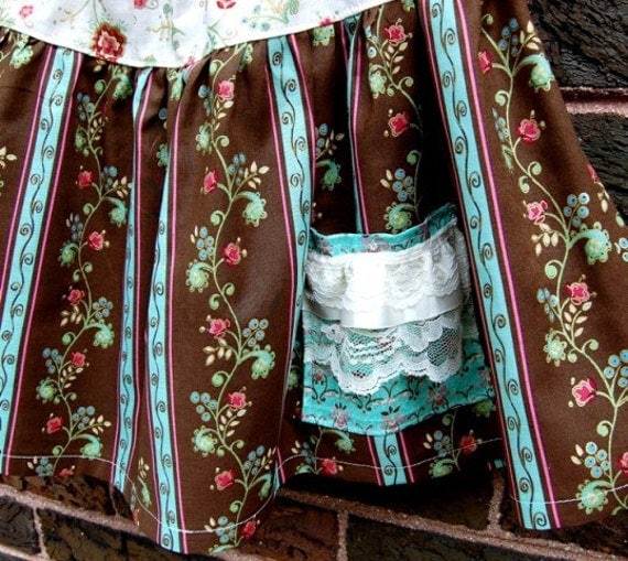 Sample Sale - Floral Twirl Skirt -- Available in Size 6, 7, 8 - Ready to Ship