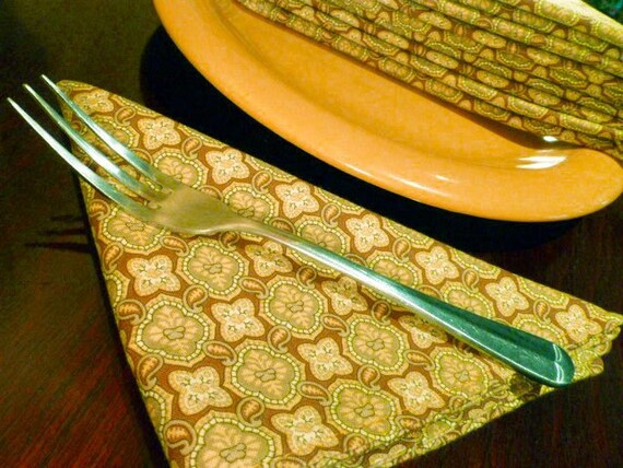 Cloth Napkins - Blooms of Symmetry - Set of 6