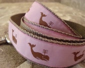 Adoreable Pink and Tan Medium to Large Dog Breed Nylon Leash