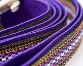 Purple and Multi-Colored 60 Inch Large Handmade Dog Leash (1 inch wide)