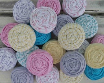 the Cutest party favors ever- custom rosette hair clips- great for your little girl's birthday/tea party favors
