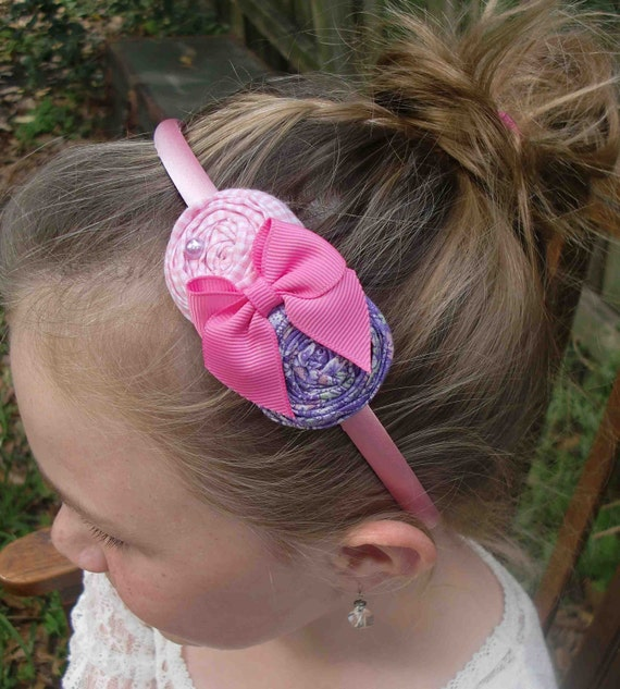 Lillian rosette headband