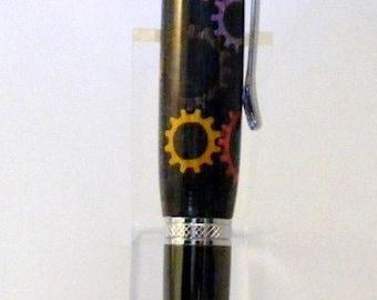Gear Inlay Twist Style Pen