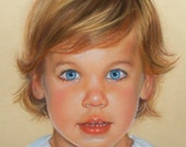 """Custom Portrait Pastel Children Paintings From Your Photo 11x14"""""""
