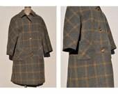 vintage mod coat 1960s womens plaid