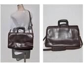 vintage leather messenger bag laptop bag messenger briefcase brief case leather jack georges.