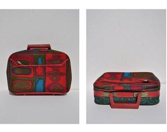 1970s vintage MOD bag purse mini suitcase JAPAN