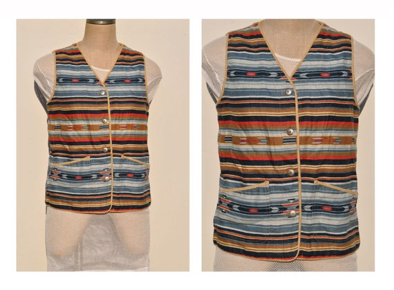 vintage southwestern navajo indian vest womens vintage clothing