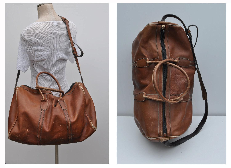 Vintage Leather Duffel Bag 81