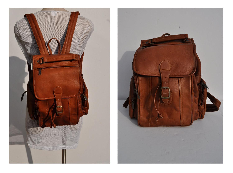 vintage leather backpack vintage boho leather BACKPACK tote