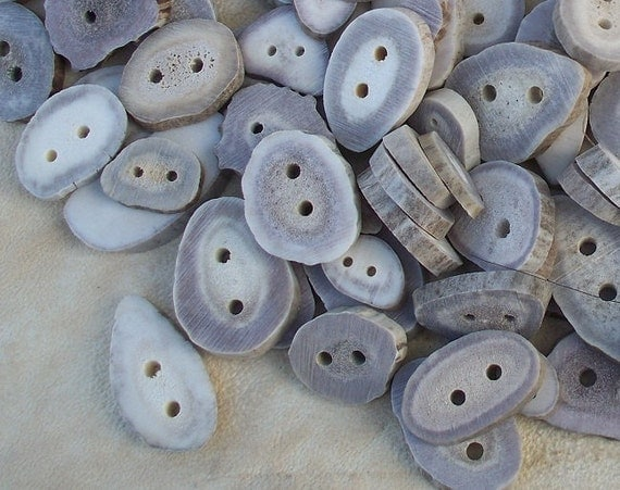 Large Deer Antler Buttons Lot of 25 pieces