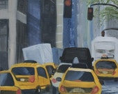 New York City - Original Oil Painting - 8 x 16 inches