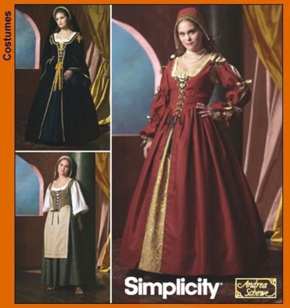 Renaissance Festival Wedding Dresses: Simplicity 4488 Corset Renaissance Faire Dress Uncut Dress