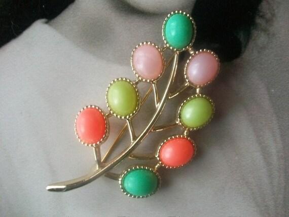 Candyland- Vintage Sarah Coventry Candyland Brooch Spring, Glee,  Mad Men Valentine's Day Gift