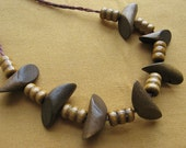 Duo Tone Wooden Necklace