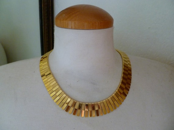 Vintage Chunky Gold Choker Collar Necklace Chains Gold Plated Necklaces Glam Rock Summer Spring