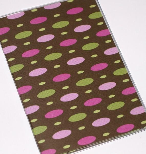 Passport Cover  - Mod Pink Ovals